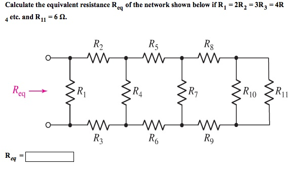 solved  calculate the equivalent resistance req of the net