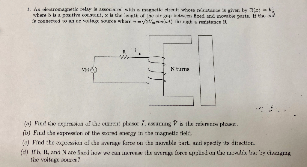 Solved: 1  An Electromagnetic Relay Is Associated With A M