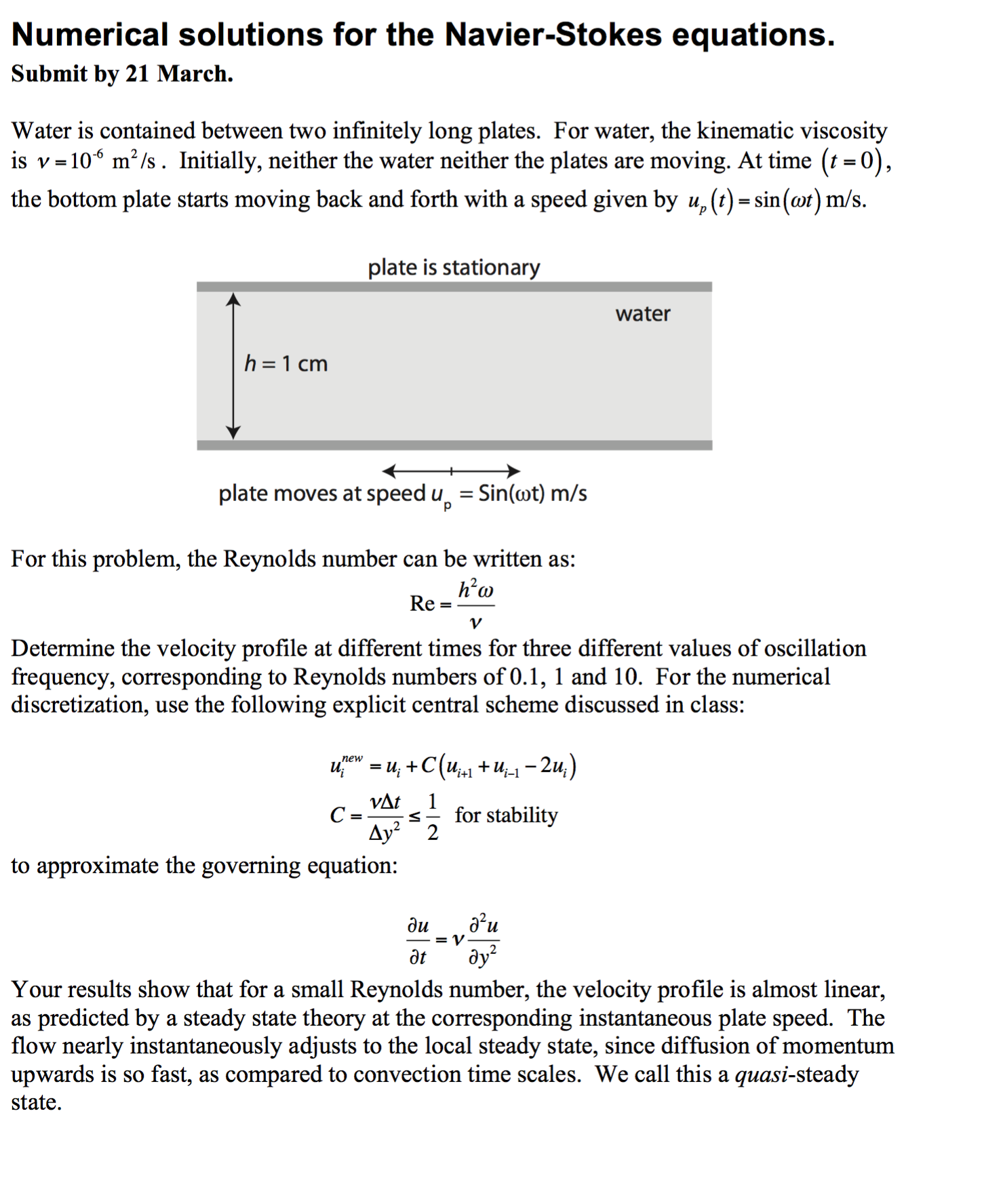 Numerical Solutions For The Navier-Stokes Equation