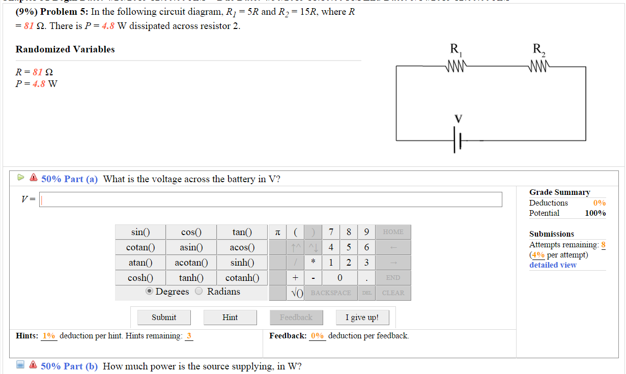 Solved In The Following Circuit Diagram R1 5r And R2 Resistor