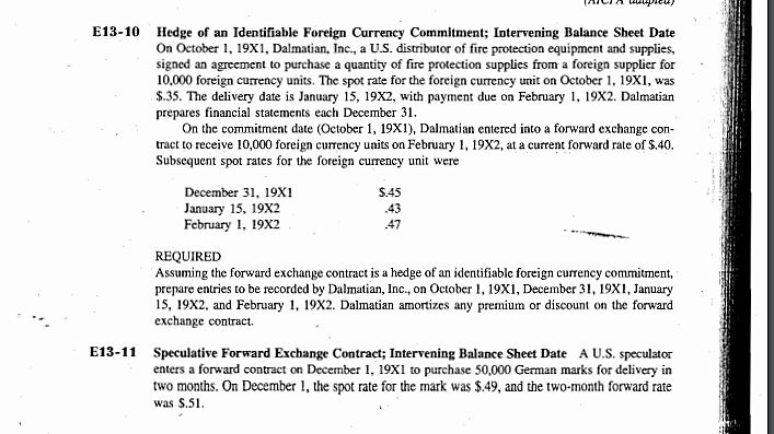 Solved Hedge Of An Identifiable Foreign Currency Commitme