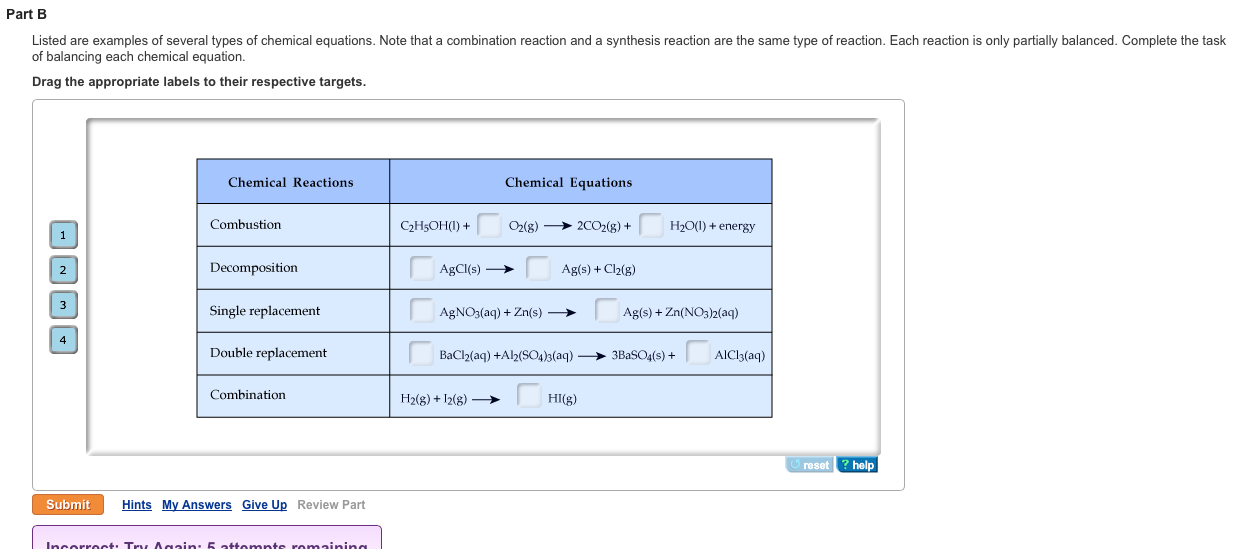 Solved Listed Are Examples Of Several Types Of Chemical E