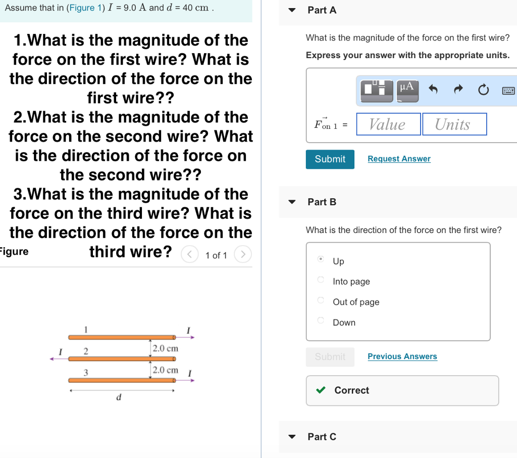 Solved: 1.What Is The Magnitude Of The Force On The First ...