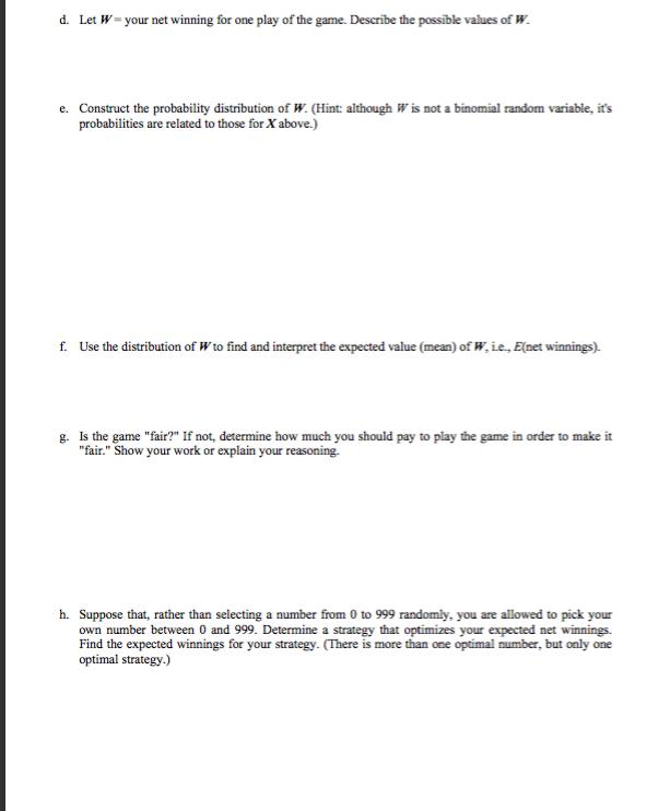 Worksheet Due Wed 106 I Pick A Digit an Integer – Than then Worksheet