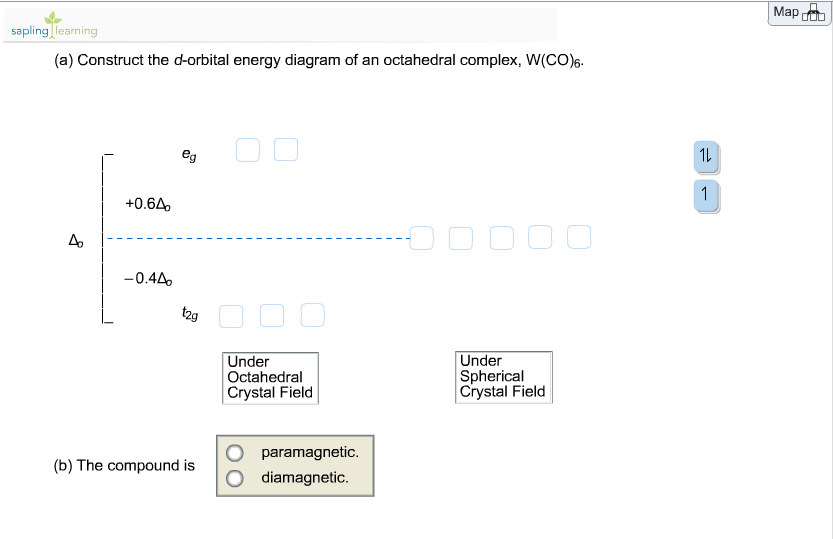 Solved Construct The D Orbital Energy Diagram Of An Octah