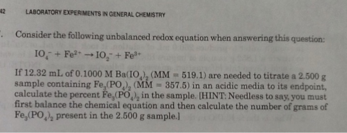 Worksheets 1000 Unbalanced Chemical Equation chemistry archive october 27 2016 chegg com consider the following unbalanced redox equation w