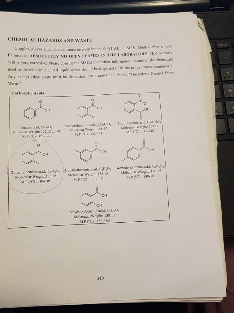Solved Experiment 5 Organic Chemistry Lab Practical Intro Chegg Com