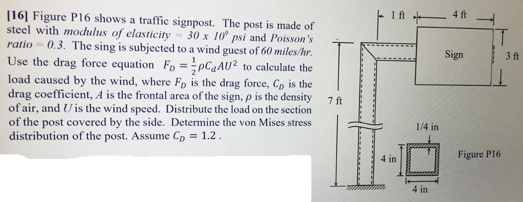 k 1 Ft Of 4ft — G-------- Sign 3 Ft [16] Figure P    | Chegg com