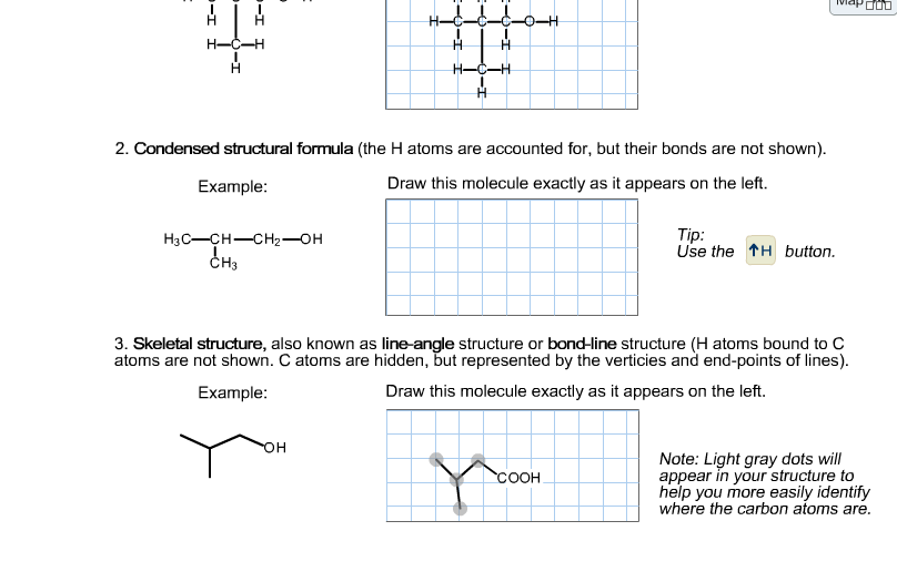 condensed structural formula the h atoms are accounted for but