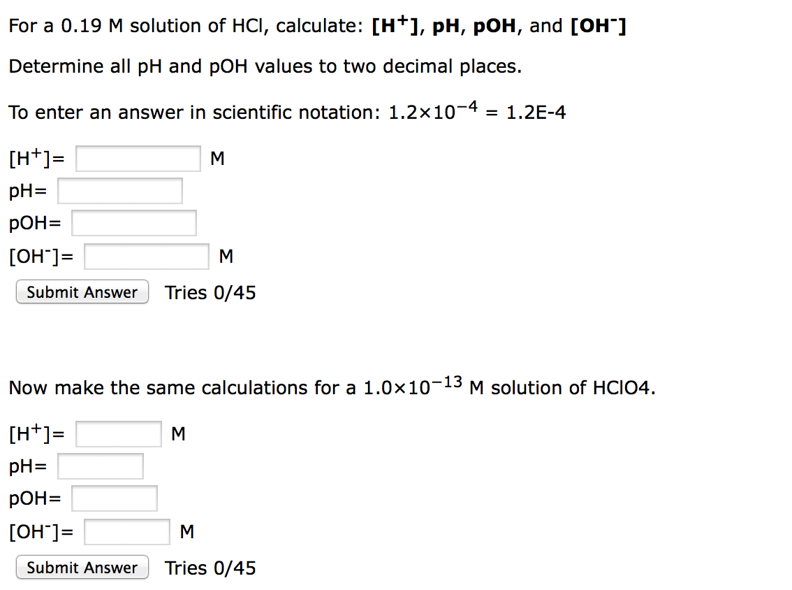 Chemistry archive september 01 2015 chegg image for for a 019 m solution of hci calculate h falaconquin
