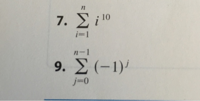 Solved Write The Sum In Expanded Form Sigmani1 I10 Si