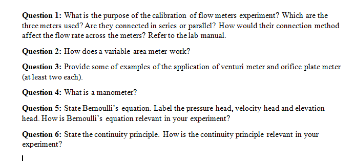 Advanced physics archive october 27 2017 chegg question 1 what is the purpose of the calibration of flow meters experiment which fandeluxe Image collections