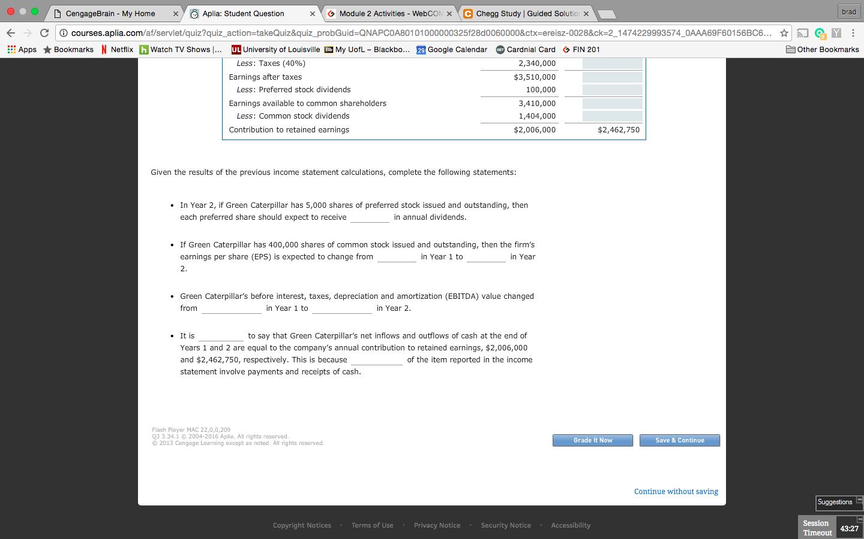 D CengageBrain My Home × y ) Aplia: Student Question ◇ Module 2
