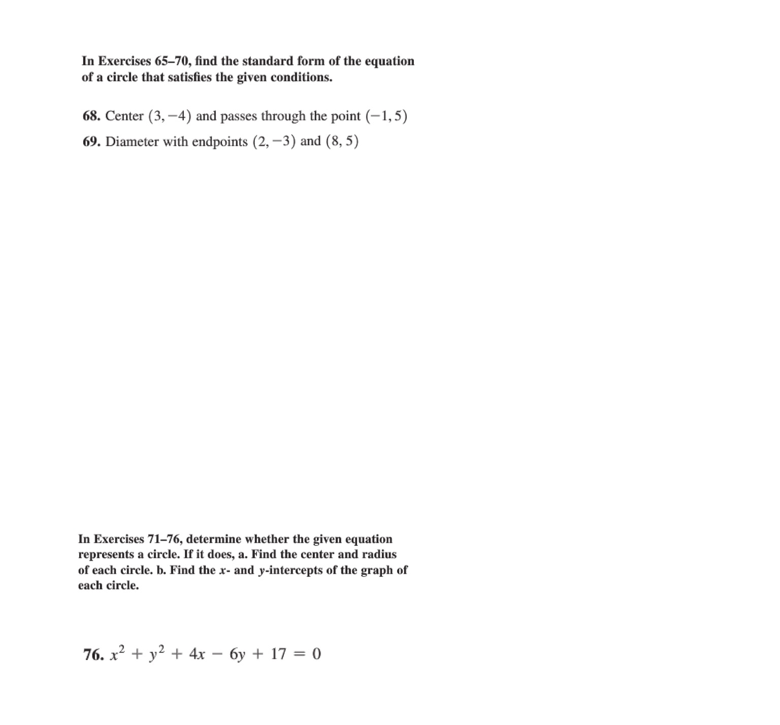 Solved In Exercises Find The Standard Form Of The Equati