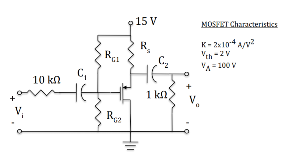 solved 3 a source follower circuit is shown below the d rh chegg com MOS FET Voltage Follower LM317 Current Limiting Circuit