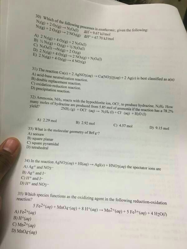 30 Which of the following processes is