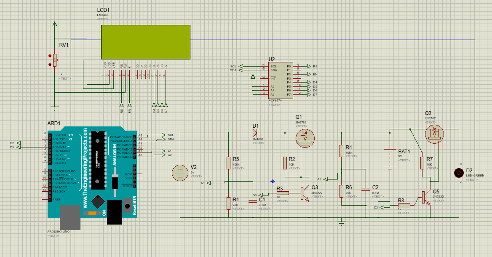 Im Using Proteus To Run The Simulation Of Cir Battery Charger Circuit Lead Acid Monitor 12v And This Is All Information For My
