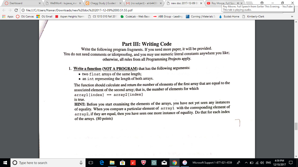 Solved: This Is From A Test Review In My Intro To Computer