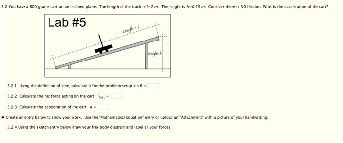 Solved You Have A 800 Grams Cart On An Inclined Plane Th
