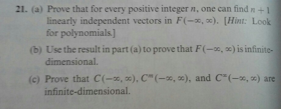 21. (a) Prove that for every positive integer n, o