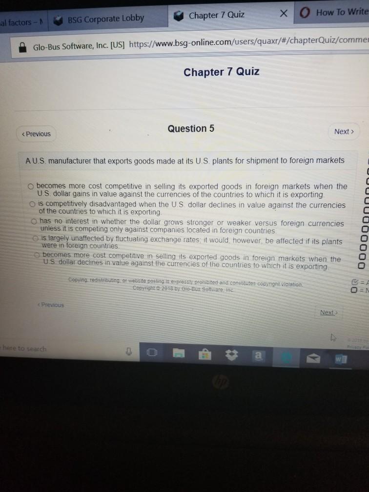 glo bus quiz 1 answers pdf