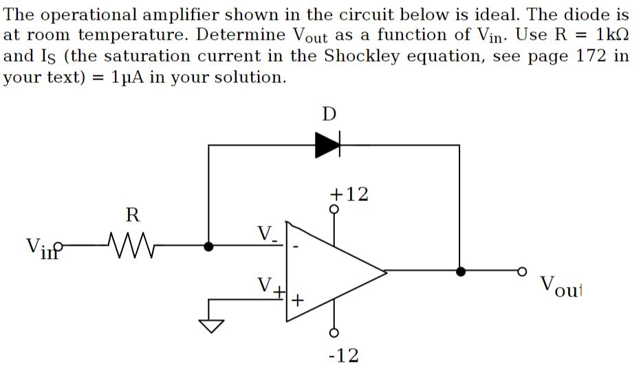 solved the operational amplifier shown in the circuit bel rh chegg com