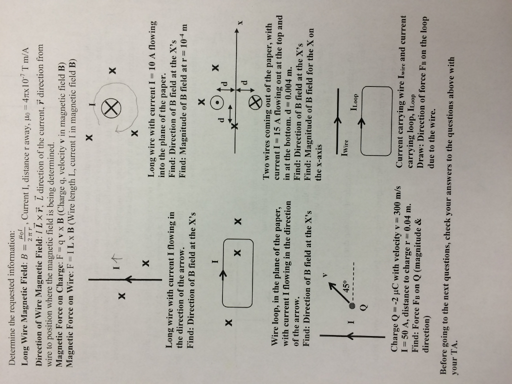 Solved: Determine The Requested Information Long Wire Magn ...