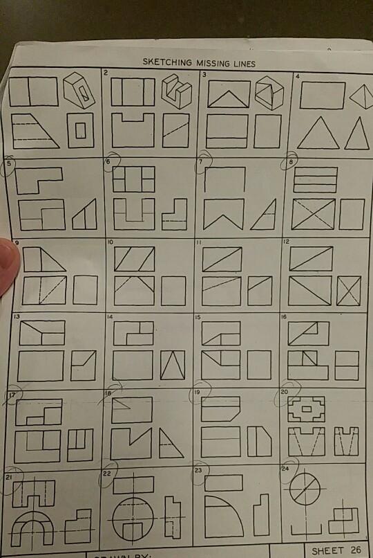 solved sketching missing lines 13 20 23 21 sheet 26 chegg com