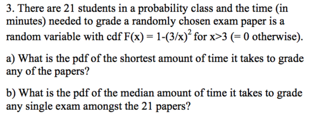 Solved: 3  There Are 21 Students In A Probability Class An