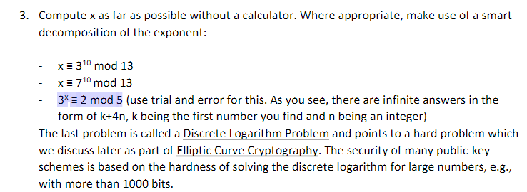 Solved: 3  Compute X As Far As Possible Without A Calculat