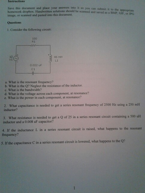 Solved Instructions Save This Document And Place Image O
