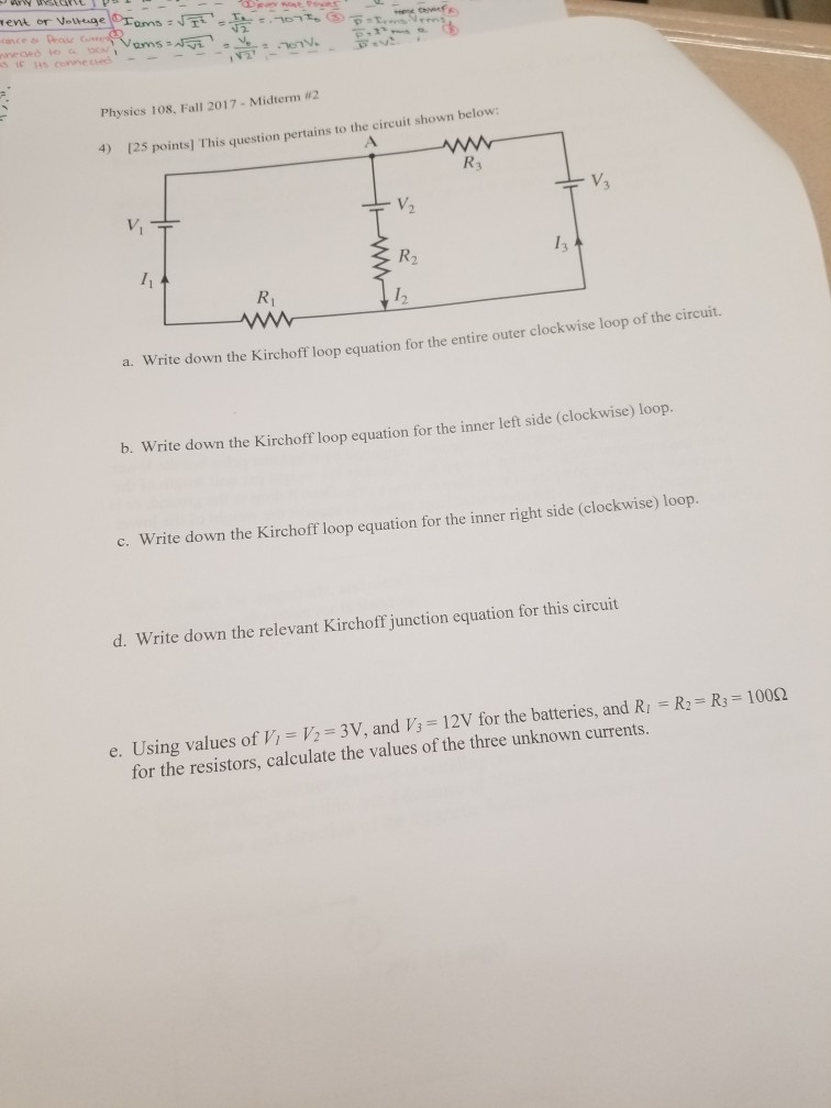 Solved: Physics 108, Fall 2017-Midterm 2 4) 125 Points] Th ...