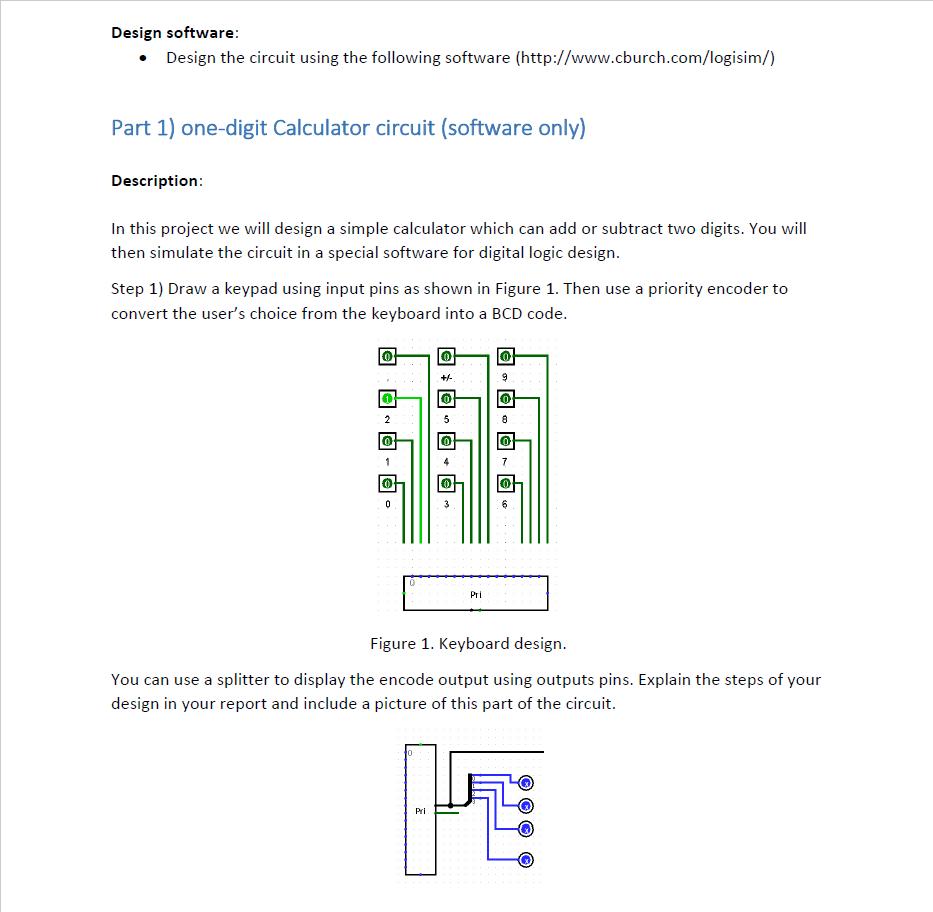 Design Software Design The Circuit Using The Foll Chegg Com