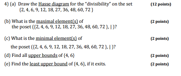 Solved draw the hasse diagram for the divisibility on t draw the hasse diagram for the ccuart Image collections
