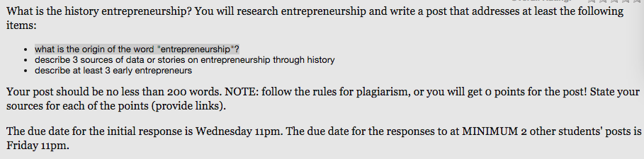 Solved: What Is The History Entrepreneurship? You Will Res