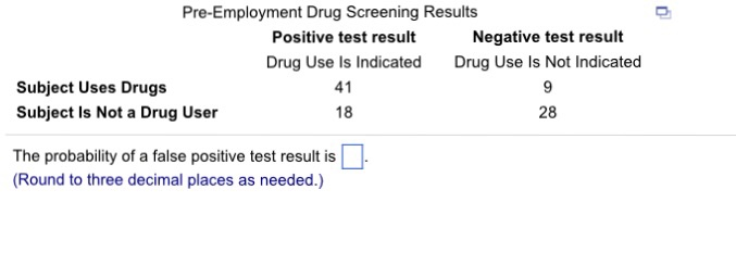 Solved: What Is The Probability Of A False Positive Test R