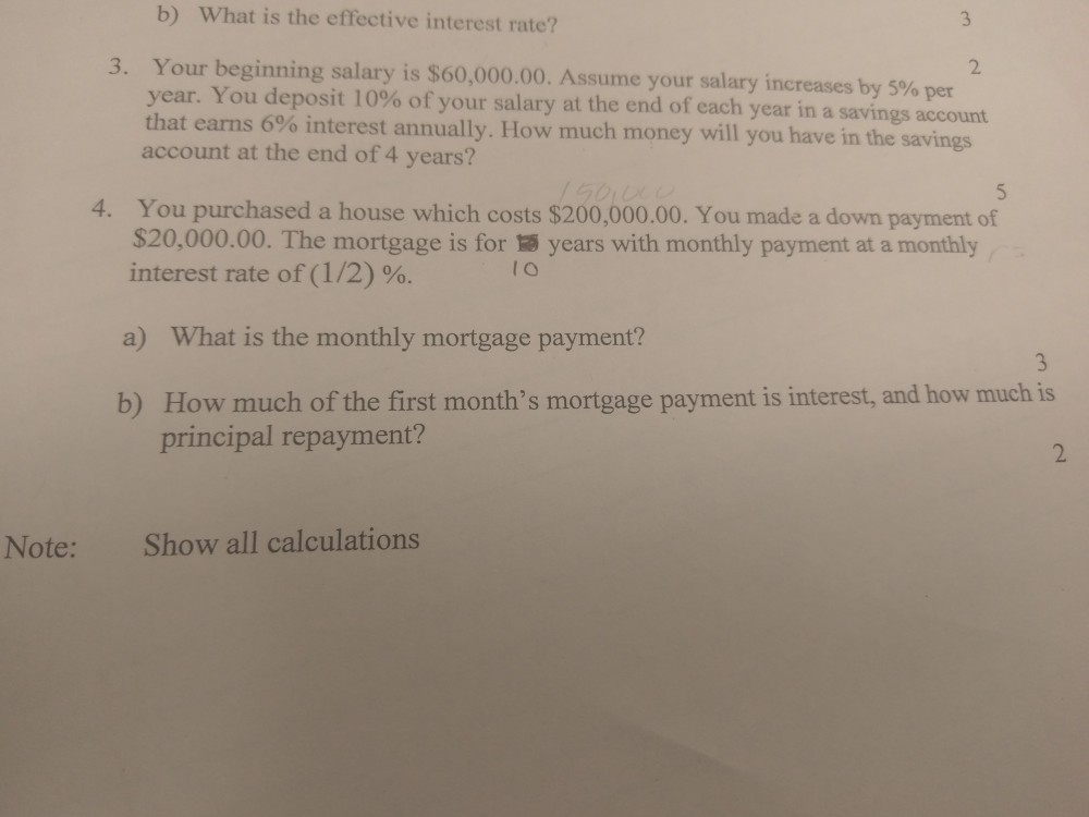 b What is the effective interest rate