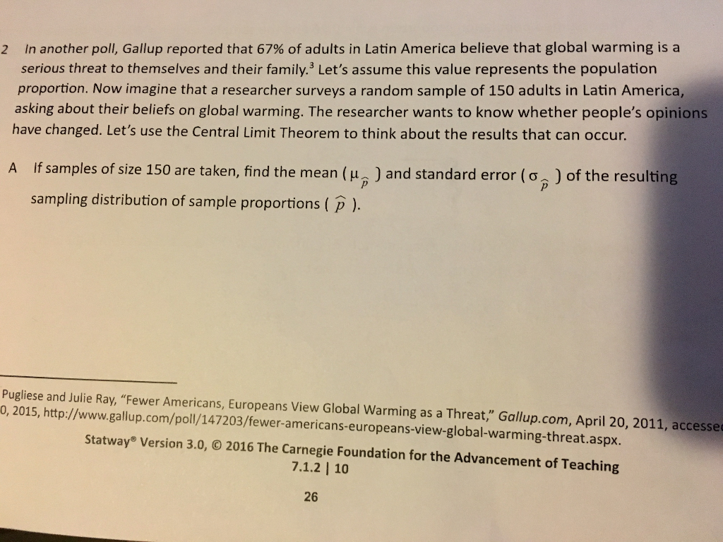 2 In Another Poll, Gallup Reported That 67% Of Adults In Latin America  Believe