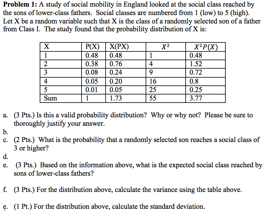 class and social mobility