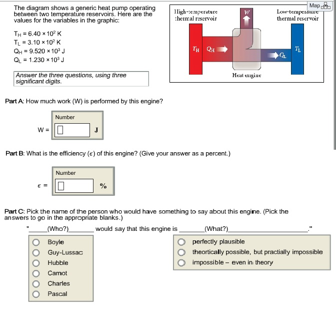 Solved The Diagram Shows A Generic Heat Pump Operating Be