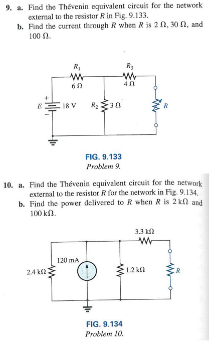 Find the Thevenin equivalent circuit for the netwo