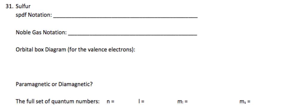 Sulfur Orbital Box Diagram Circuit Diagram Symbols