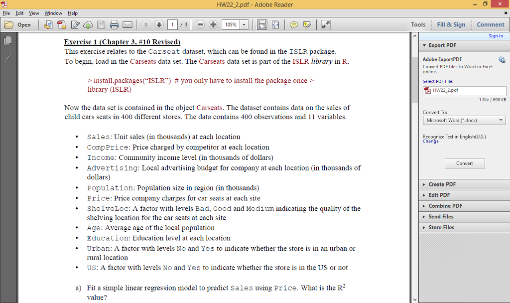 Solved: HW22 2 pdf Adobe Reader File Edit View Window Help