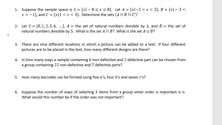 da1bca70e Solved: Suppose The Sample Space Is S = {x| - 8 Lessthanor ...