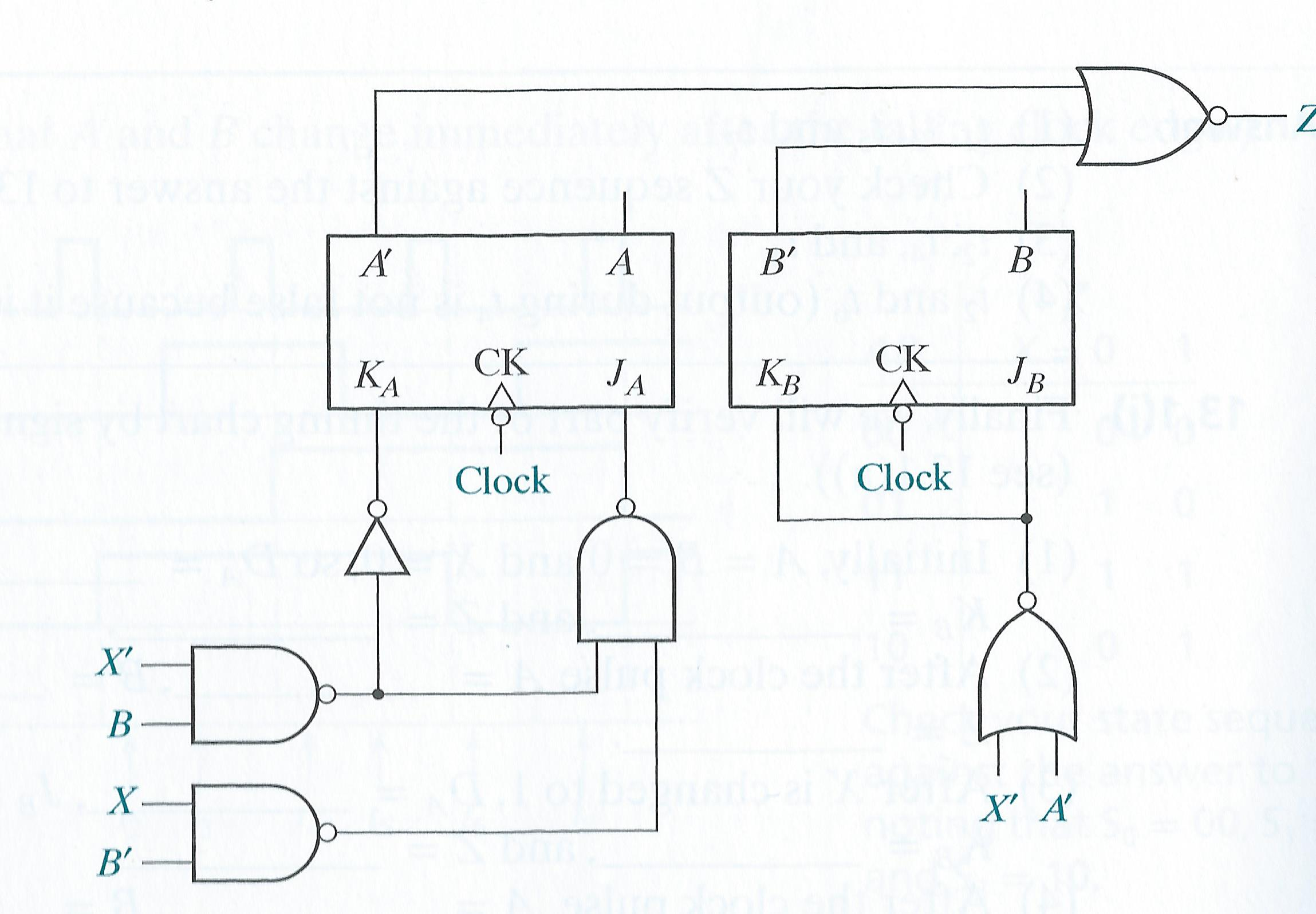 Solved For The Following Circuit Assume Delays Of Na J K Flip Flop Diagram