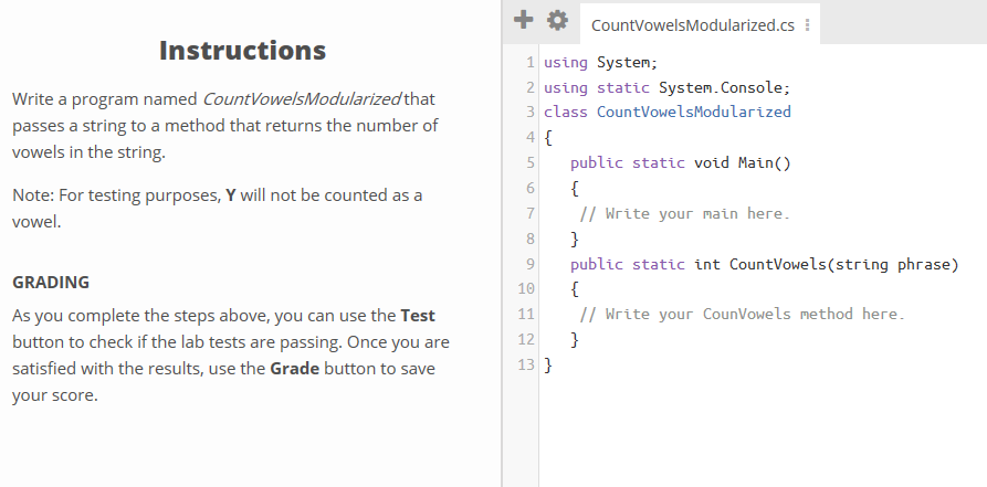 Solved Countvowelsmodularized Instructions 1 Using Sy