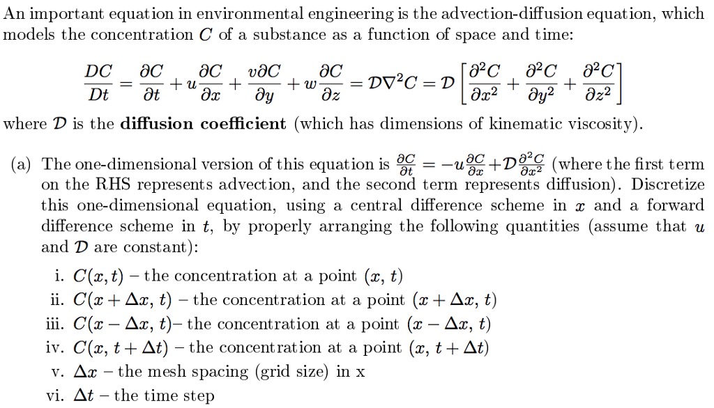 An Important Equation In Environmental Engineering    | Chegg com