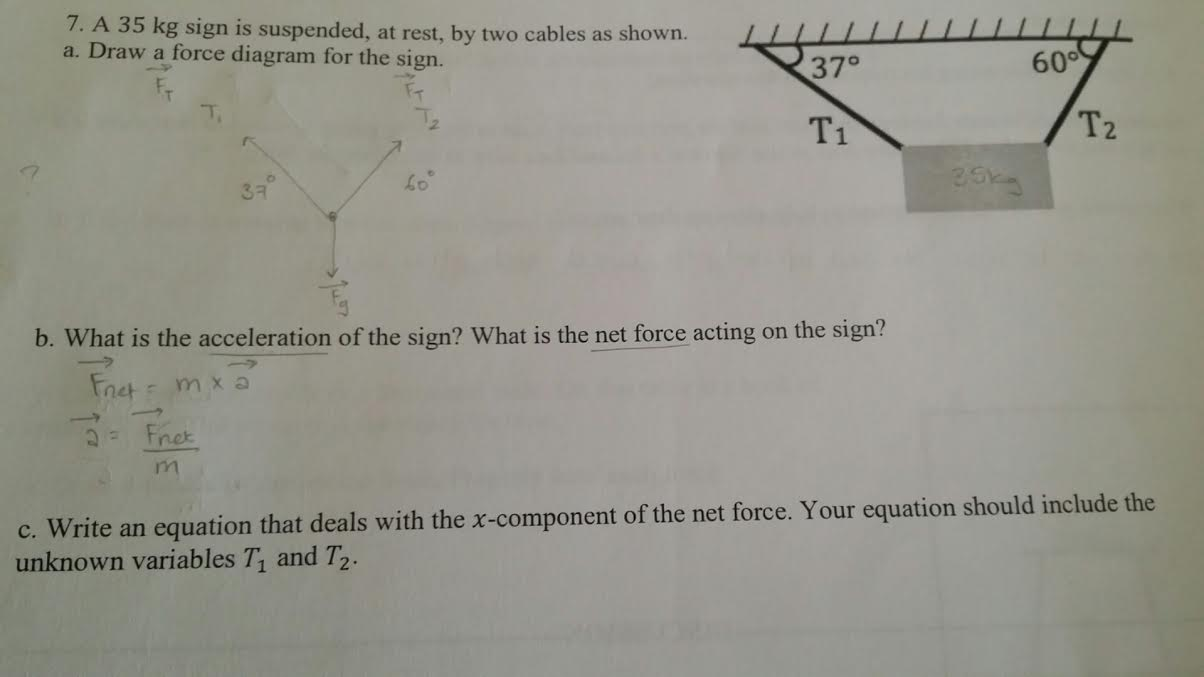 Solved I Dont Understand How To Solve Questions 7a E Ca Free Body Diagram Form A And Qu