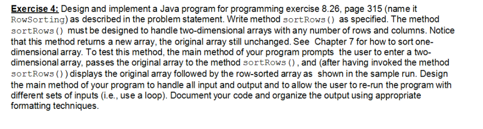 Solved Exercise 4 Design And Implement A Java Program For