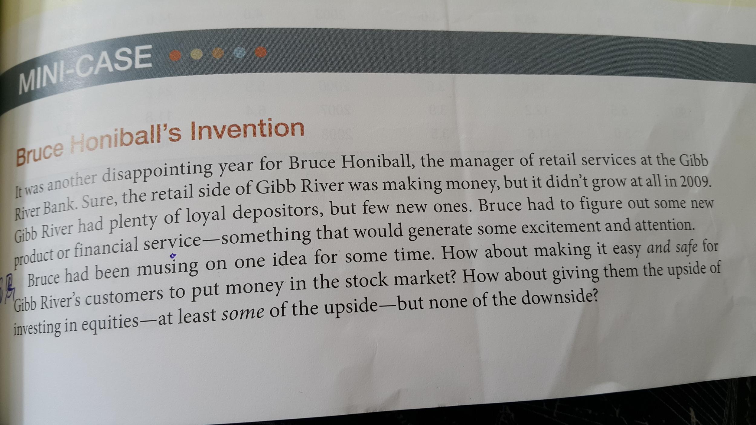 bruce honiball minicase solution